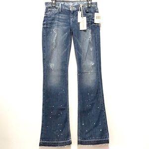 GUESS Jeans Brazilian Paint Wash Foxy Flare